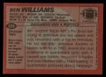 1983 Topps #229  Ben Williams  Back Thumbnail