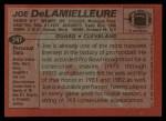 1983 Topps #247  Joe DeLamielleure  Back Thumbnail
