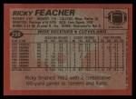 1983 Topps #250  Ricky Feacher  Back Thumbnail