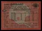1983 Topps #283  Gary Barbaro  Back Thumbnail