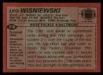 1983 Topps #218  Leo Wisniewski  Back Thumbnail