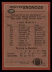 1983 Topps #260   Broncos Leaders Back Thumbnail