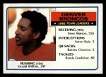 1983 Topps #260   Broncos Leaders Front Thumbnail