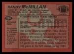 1983 Topps #214  Randy McMillan  Back Thumbnail