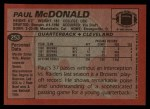 1983 Topps #253  Paul McDonald  Back Thumbnail