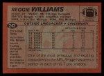 1983 Topps #243  Reggie Williams  Back Thumbnail
