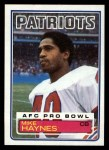 1983 Topps #332  Mike Haynes  Front Thumbnail