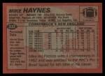 1983 Topps #332  Mike Haynes  Back Thumbnail