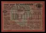 1983 Topps #322  Uwe Von Schamann  Back Thumbnail