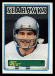 1983 Topps #392  Jeff West  Front Thumbnail