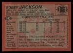 1983 Topps #343  Bobby Jackson  Back Thumbnail