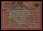 1983 Topps #378  Louie Kelcher  Back Thumbnail