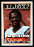 1983 Topps #373  Wes Chandler  Front Thumbnail