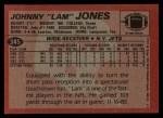 1983 Topps #345  Johnny Lam Jones  Back Thumbnail