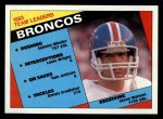1984 Topps #61   Broncos Leaders Front Thumbnail