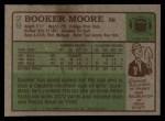 1984 Topps #29  Booker Moore  Back Thumbnail