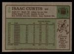 1984 Topps #39  Isaac Curtis  Back Thumbnail