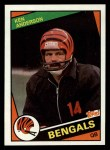 1984 Topps #34  Ken Anderson  Front Thumbnail
