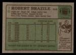 1984 Topps #76  Robert Brazile  Back Thumbnail