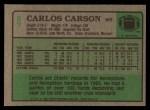 1984 Topps #87  Carlos Carson  Back Thumbnail