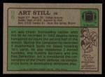 1984 Topps #96  Art Still  Back Thumbnail