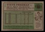 1984 Topps #25  Steve Freeman  Back Thumbnail