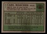 1984 Topps #81  Carl Roaches  Back Thumbnail