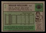 1984 Topps #46  Reggie Williams  Back Thumbnail