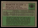 1984 Topps #98  Marcus Allen  Back Thumbnail