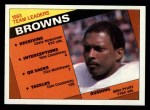 1984 Topps #47   Browns Leaders Front Thumbnail
