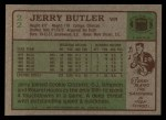 1984 Topps #22  Jerry Butler  Back Thumbnail