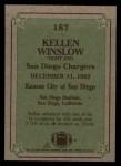 1984 Topps #187   -  Kellen Winslow Instant Reply Back Thumbnail