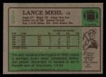 1984 Topps #153  Lance Mehl  Back Thumbnail