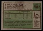 1984 Topps #155  Darrol Ray  Back Thumbnail