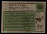 1984 Topps #216  Mike Kenn  Back Thumbnail