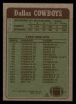1984 Topps #235   Cowboys Leaders Back Thumbnail