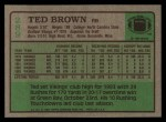 1984 Topps #289  Ted Brown  Back Thumbnail