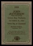 1984 Topps #269   -  John Jefferson Instant Reply Back Thumbnail