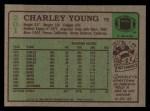 1984 Topps #201  Charley Young  Back Thumbnail