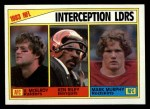 1984 Topps #206   -  Vann McElroy / Ken Riley / Mark Murphy Interception Leaders Front Thumbnail