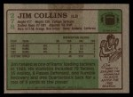 1984 Topps #278  Jim Collins  Back Thumbnail