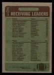 1984 Topps #203   -  Todd Christensen Receiving Leaders Back Thumbnail