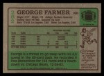 1984 Topps #282  George Farmer South  Back Thumbnail