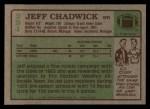 1984 Topps #251  Jeff Chadwick  Back Thumbnail