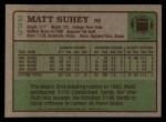 1984 Topps #233  Matt Suhey  Back Thumbnail