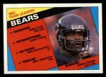 1984 Topps #221   Bears Leaders Front Thumbnail