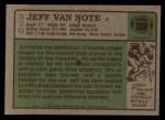 1984 Topps #220  Jeff Van Note  Back Thumbnail