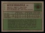 1984 Topps #324  Butch Woolfolk  Back Thumbnail