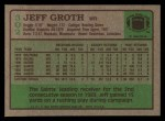 1984 Topps #302  Jeff Groth  Back Thumbnail