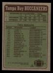1984 Topps #364   Buccaneers Leaders Back Thumbnail